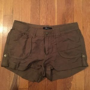 Green/Brown Forever 21 XXI Cargo Shorts